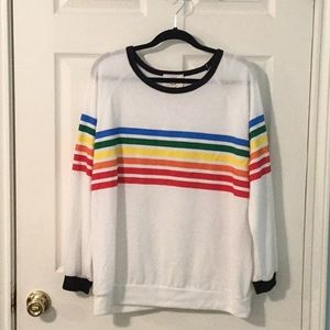 Fantastic Fawn Rainbow Sweatshirt Top